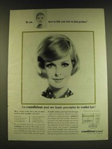 1966 Clairol Condition Ad - Do you have to hide your hair - $14.99