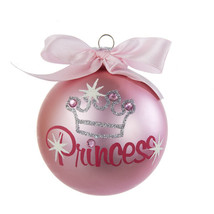 Pink Princess Glitter Ornament  By Kurt Adler - $11.57