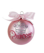 Pink Princess Glitter Ornament  By Kurt Adler - $11.57