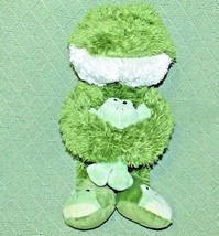 """Animal Adventure FROG 14"""" Slippers Baby Froggy Lovie Green Soft Fuzzy Green Toad - $23.38"""