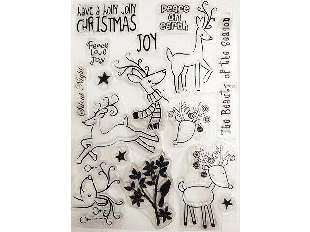 Reindeer Christmas Clear Stamp Set