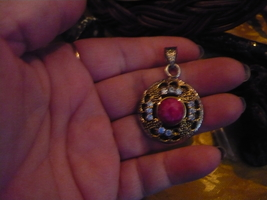 PARANORMAL PENDENT OF THE SI'LAT JINN OF MONEY RUBY WHITE TOPAZ - $250.00