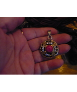 PARANORMAL PENDENT OF THE SI'LAT JINN OF MONEY RUBY WHITE TOPAZ PENDENT - $250.00