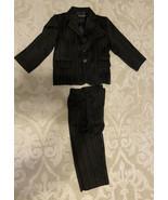 2 Pc Pin Stripe Suit 4T Slacks 3 Button Jacket Light Shoulder Pads Sharp... - $19.60