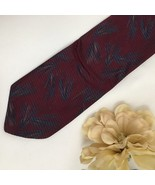 Giorgio Armani Red & blue Print men's silk business tie - $24.95