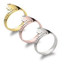 Baby Feet Ring with Birthstone - $71.99+