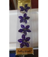 Ashley Nichole Designer Purple Wired Napkin Rings Set of 4 - $19.79
