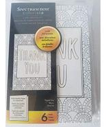 "Colorista ""Thank You"" Coloring Card Making Kit 6 Cards Included - $6.43"