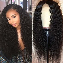 RECOOL Curly Hair Human Hair Wigs Kinky Curly 13x4 Lace Front Wigs For B... - $140.31