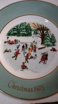 "Avon Christmas Plate 1975 ""Skaters On The Pond""  - $5.00"