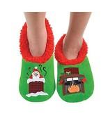 Mens Ugly Christmas Collection Holiday Snoozies - Hot Santa, Large - $18.05