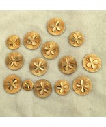 Vintage Auth CHANEL Button Stamped Textured Clover Shamrock Design 15/16... - $29.99