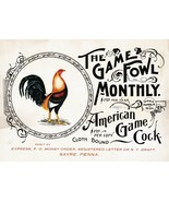 Wall Decor Poster.Home Room interior.American Great Cock.Fowl game.Chick... - $10.89+
