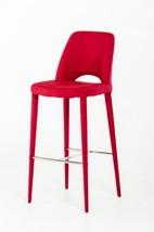 Modrest Williamette Modern Red Fabric Bar Stool - $253.00