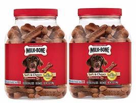 Milk-Bone 2 Pack Soft & Chewy Beef & Filet Mignon Recipe Dog Treats, 25-... - $38.77