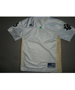 Vtg White BLANK Notre Dame Fighting Irish NCAA Football Screen Jersey Yo... - $23.75