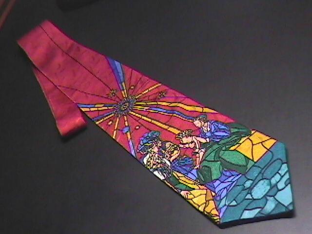 Tie dillards christ birth in manger stained glass look 02
