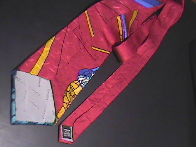 Dillards Neck Tie Christmas Stained Glass Look Manger Scene