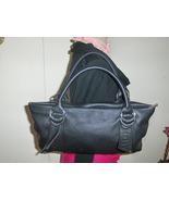 Express Design Studio Black Pebble Grain Leather Satchel Purse - $39.97