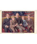 Theodore Roosevelt and  His Sons 1906 Vintage Post Card  - $7.00