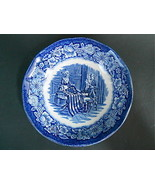 Liberty Blue English Staffordshire Blue White Berry Desert Sauce Bowl Be... - $12.61