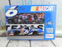 Vintage NASCAR Mark Martin #6 Racing 100 Piece Puzzle Vista 12X9 New Sealed - $8.90