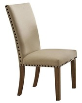 HOMELEGANCE Fabric Upholstered Side Chair with Nailheads, Beige, Set of 2 - $227.29