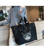 Cat Cute Cartoon Sequins Women Bags Nylon Handbag Large Capacity Shoulde... - £33.65 GBP