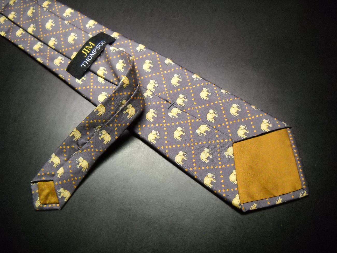 jim thompson neck tie silk made in thailand elephants in