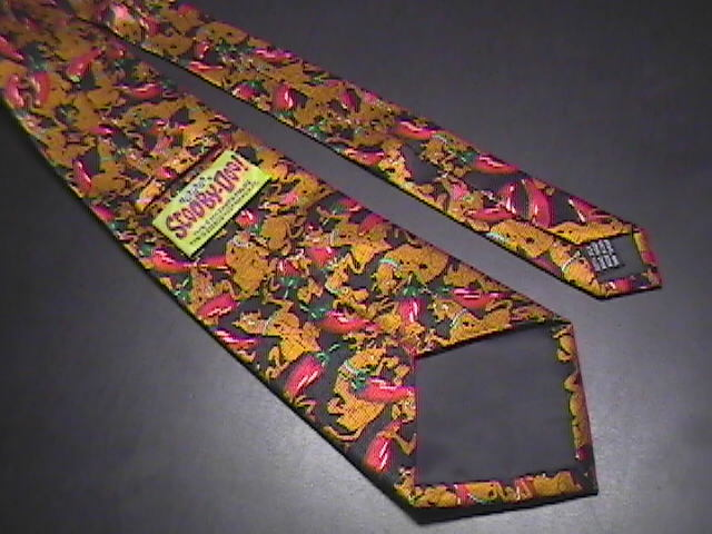 Cartoon Network Scooby-Do! Neck Tie Scooby and Chili Peppers on Black