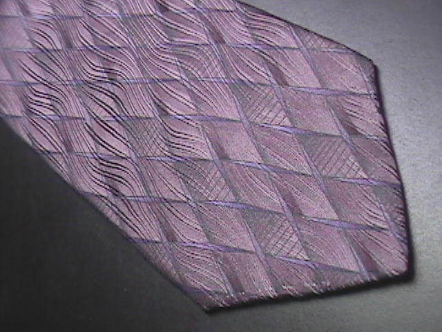 Murano Italia Neck Tie Silk Purples and Blue Geometric Design