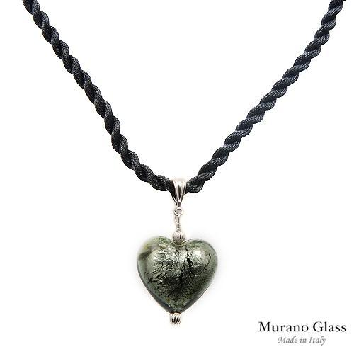 MURANO GLASS BRAND NEW MADE IN ITALY HEART NECKLACE