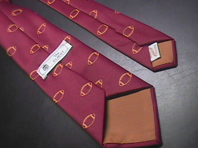 The Client Neck Tie Turpin College Football Maroon and Gold Colors