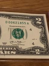 (2013 ($2 DOLLAR Bill ) Birthday NOTE , BILL - 00621855 ~ June 2, 1855 - $6.82