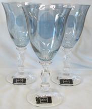 Mikasa Kensington Sapphire Crystal Red Wine Goblet Glass Stem Set of 3 - $38.60