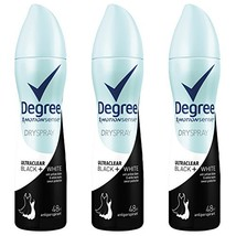 Degree Ultraclear Antiperspirant Deodorant Dry Spray, Black/White, 3.8 O... - $15.65