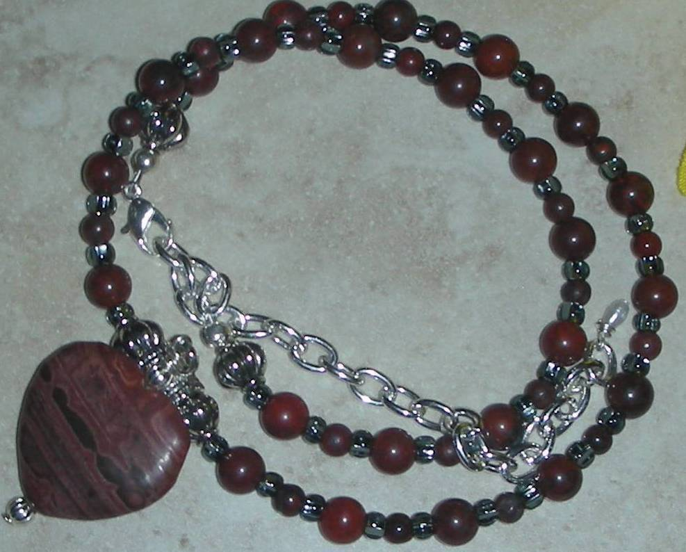Genuine Breciated and Piccasso Jasper Beads Necklace
