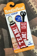 GO TEAM Football Sports BooginHead PaciGrip Pacifier Clip Holder Univers... - $9.15