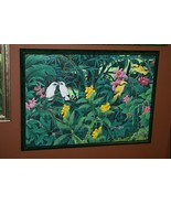 Hand painted Custom Frame Original Canvas Signed Art Starling Orchids DF... - $854.99