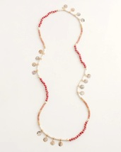 Chico's Pink Single-strand Beaded Necklace - $17.00