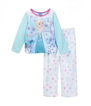 Disney Frozen Fleece Pajamas Elsa Pants Top Set 2T Gift Sleepwear PJs Winter New - $21.99