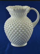 Fenton Hobnail Milk Glass Pitcher #3764MI 54 Oz Jug - $39.60