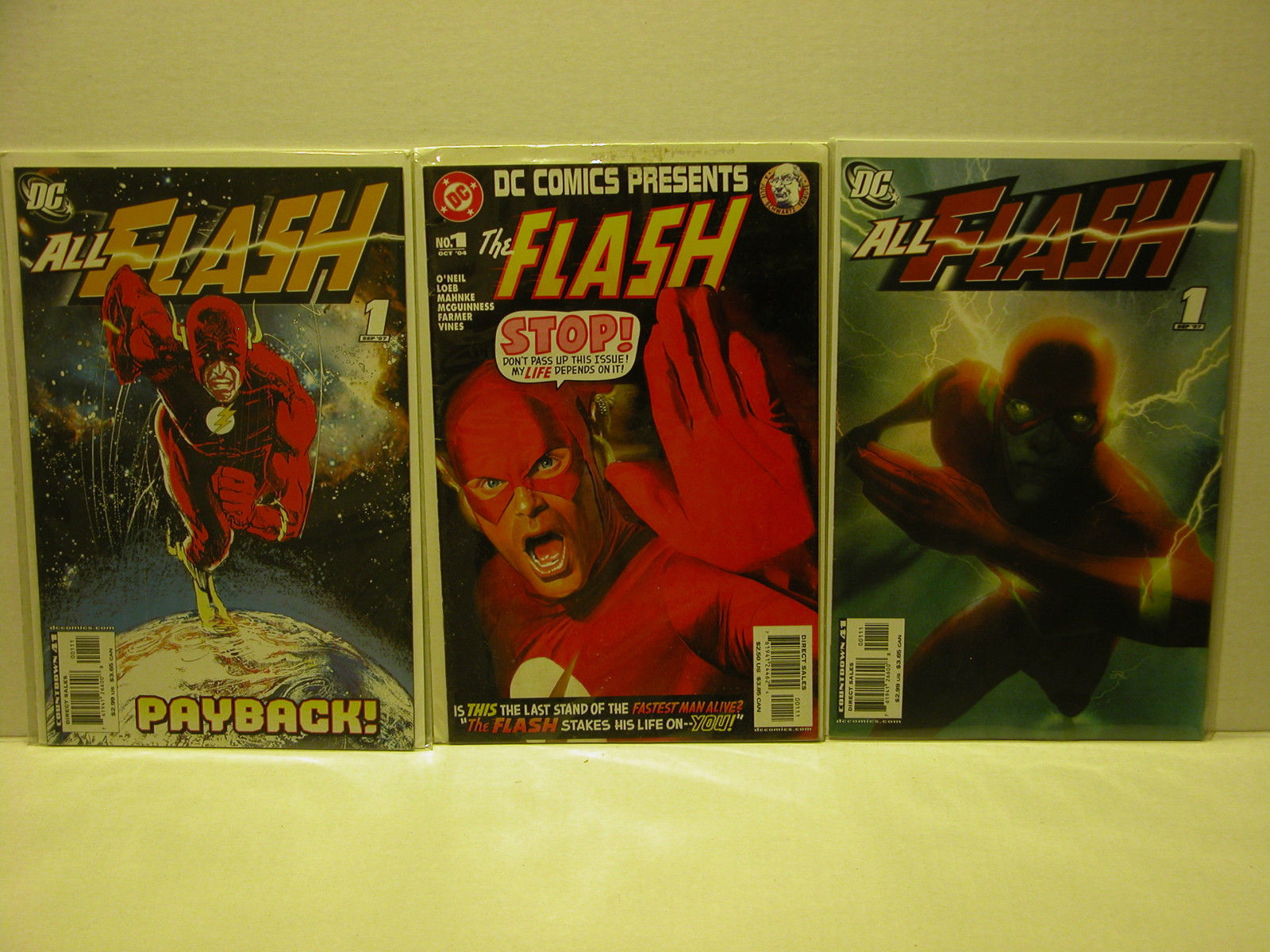 THE FLASH - THREE #1 ISSUES - ALL FLASH + DC COMICS PRESENTS - FREE SHIPPING