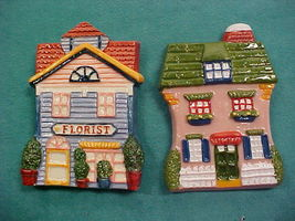 AVON GIFT COTTAGE COLLECTION MAGNET SET OF TWO - $9.45