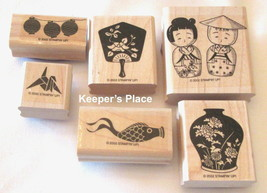 Set Of 6 Stampin Up GIFTS OF THE ORIENT Oriental Wood Mounted Stamps 200... - $10.00