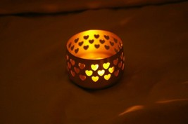 PartyLite Brass  Votive Holder Heart Cut Out Tealight - $5.99