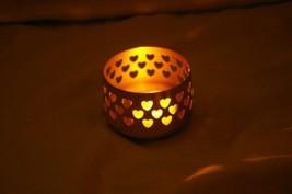 PartyLite Brass  Votive Holder Heart Cut Out Tealight - $6.00