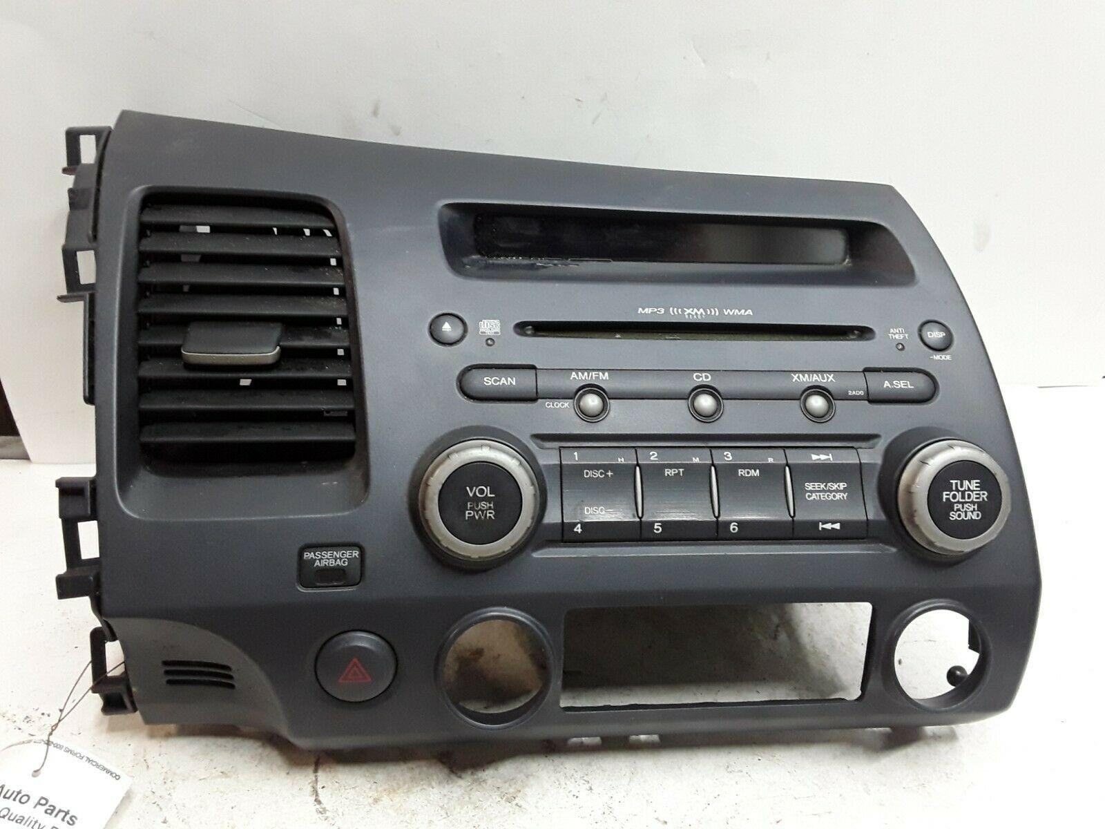 honda civic  fm xm cd radio receiver oem  sna   ad car audio