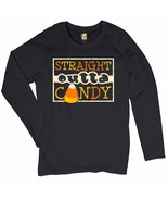 Straight Outta Candy Women's Long Sleeve T-shirt Happy Halloween Trick-o... - $15.01+
