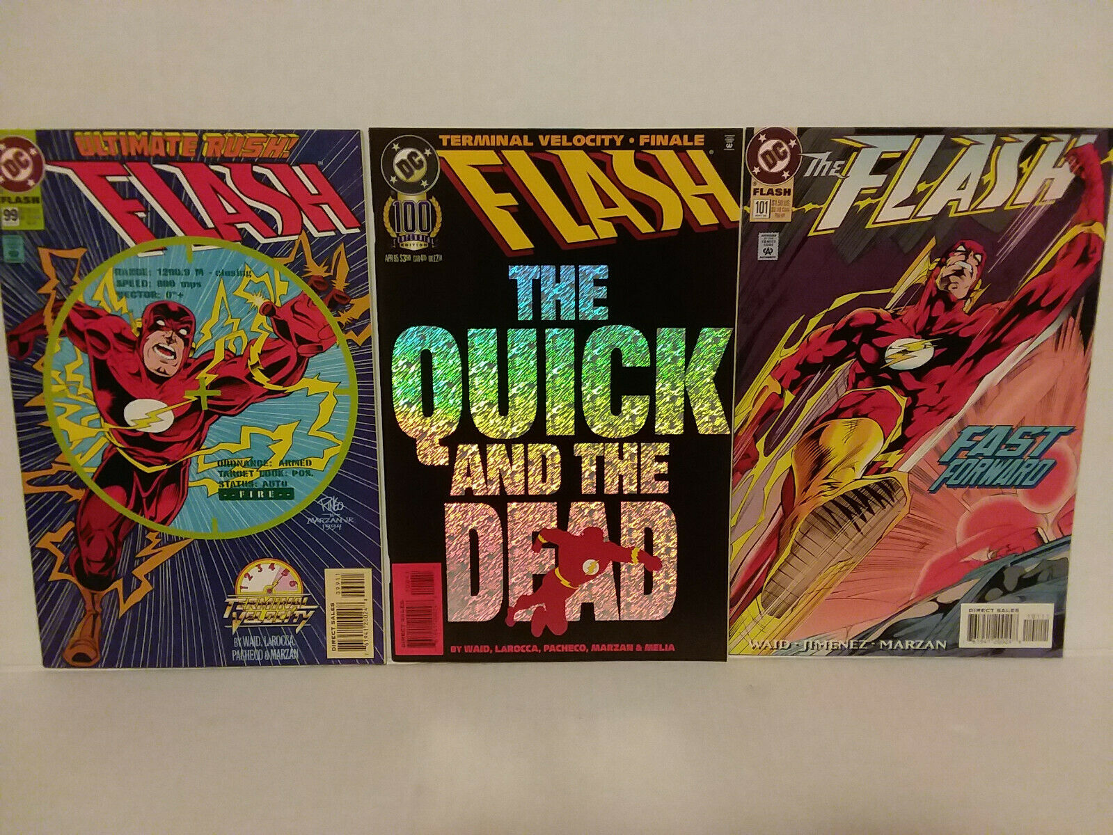 THE FLASH - THREE ISSUES - #99, #100 AND #101 - FREE SHIPPING